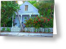 Colorful Key West Cottage Greeting Card