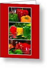 Colorful Kitchen Collage Greeting Card