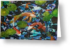 Colorful Koi Greeting Card