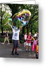Colorful Large Bubbles Greeting Card