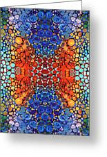 Colorful Layers Vertical - Abstract Art By Sharon Cummings Greeting Card by Sharon Cummings
