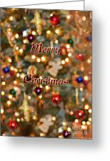 Colorful Lights Christmas Card Greeting Card