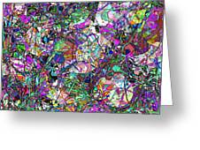 Colorful Lines Abstract Greeting Card