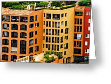 Colorful Living In Monaco Greeting Card