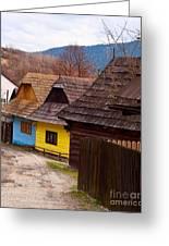 Colorful Log Homes Greeting Card