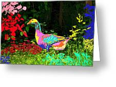 Colorful Lucy Goosey Greeting Card