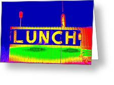 Colorful Lunch Greeting Card