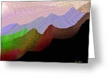 Colorful Mountain Range Greeting Card
