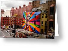 Colorful Mural Chelsea New York City Greeting Card