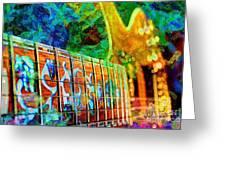 Colorful Music Digital Guitar Art By Steven Langston Greeting Card