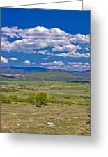 Colorful Nature Od Lika Region Greeting Card