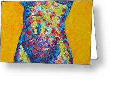 Colorful Nude  Greeting Card