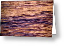 Colorful Ocean Water At Sunset Greeting Card