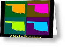 Colorful Oklahoma State Pop Art Map Greeting Card
