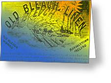 Colorful Old Bleach Linen Ad Greeting Card