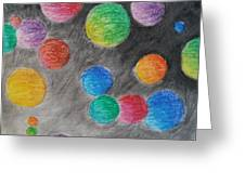 Colorful Orbs Greeting Card