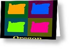 Colorful Oregon Pop Art Map Greeting Card