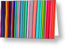 Colorful Pashminas Greeting Card