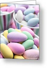 Colorful Pastel Jordan Almond Candy Greeting Card