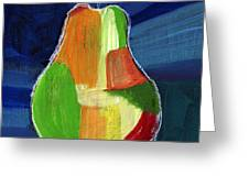 Colorful Pear- Abstract Painting Greeting Card