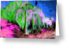Colorful Phosphorescent Cave Greeting Card