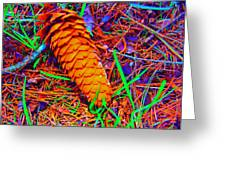 Colorful Pinecone Greeting Card