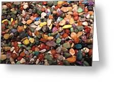 Colorful Polished Stones Greeting Card
