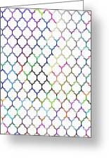 Colorful Quatrefoil Greeting Card