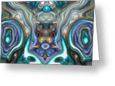 Colorful Reflections Of Glass Greeting Card
