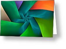 Colorful Ribbons Greeting Card