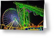 Colorful Rides Greeting Card by Thomas  MacPherson Jr