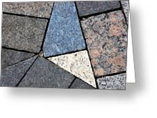 Colorful Rock Pavers Greeting Card