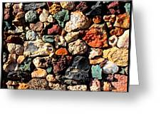 Colorful Rock Wall With Border Greeting Card