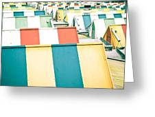 Colorful Roofs Greeting Card