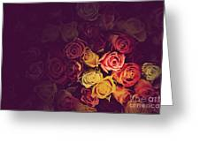 Colorful Roses Background Greeting Card