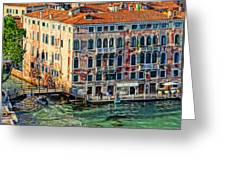 Colorful Rotten Palace In Venice Italy  Greeting Card