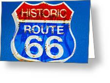Colorful Route 66 Greeting Card