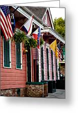 Colorful Row Houses Greeting Card