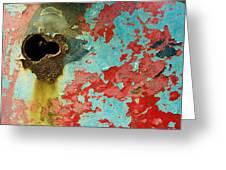 Colorful Rusty Door Greeting Card