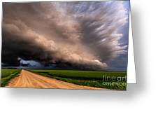 Colorful Shelf Cloud Greeting Card