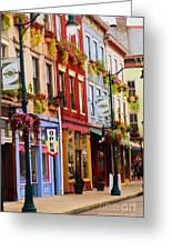 Colorful Shops Greeting Card