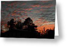 Colorful Sky Number 5 Greeting Card