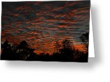 Colorful Sky Number 7 Greeting Card