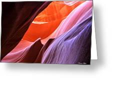 Colorful Slot Canyon Greeting Card