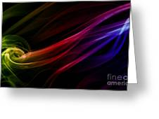 Colorful Smoke Composition Greeting Card