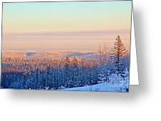 Colorful Snow Valley Greeting Card