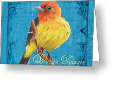 Colorful Songbirds 4 Greeting Card