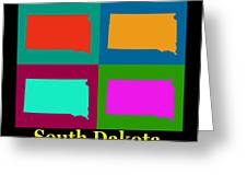 Colorful South Dakota Pop Art Map Greeting Card