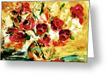 Colorful Spring Bouquet - Abstract  Greeting Card