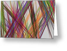 Colorful Straight Line Fractal Flame Greeting Card